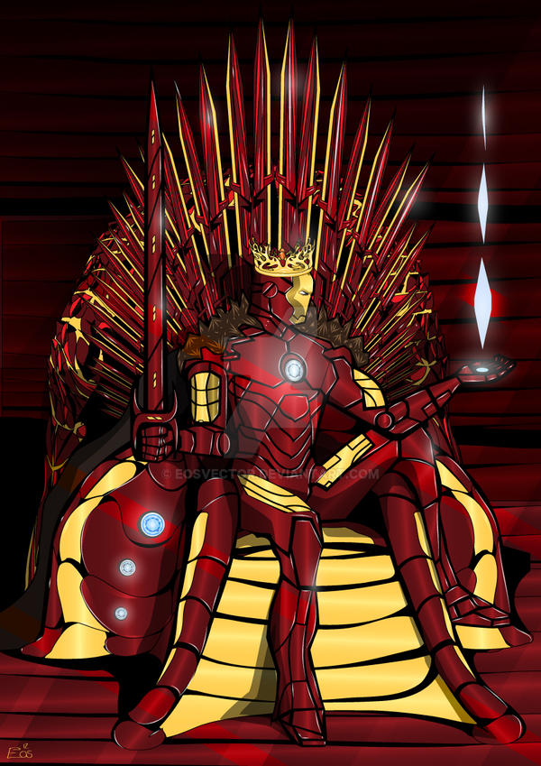 Iron throne iron king by eosvector on deviantart for Iron throne painting