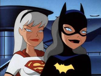 Old Batgirl v Super-Oldgirl by SellicDr