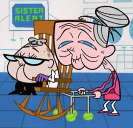Old Man Dexter and Old Gal Dee Dee (White hair) by SellicDr