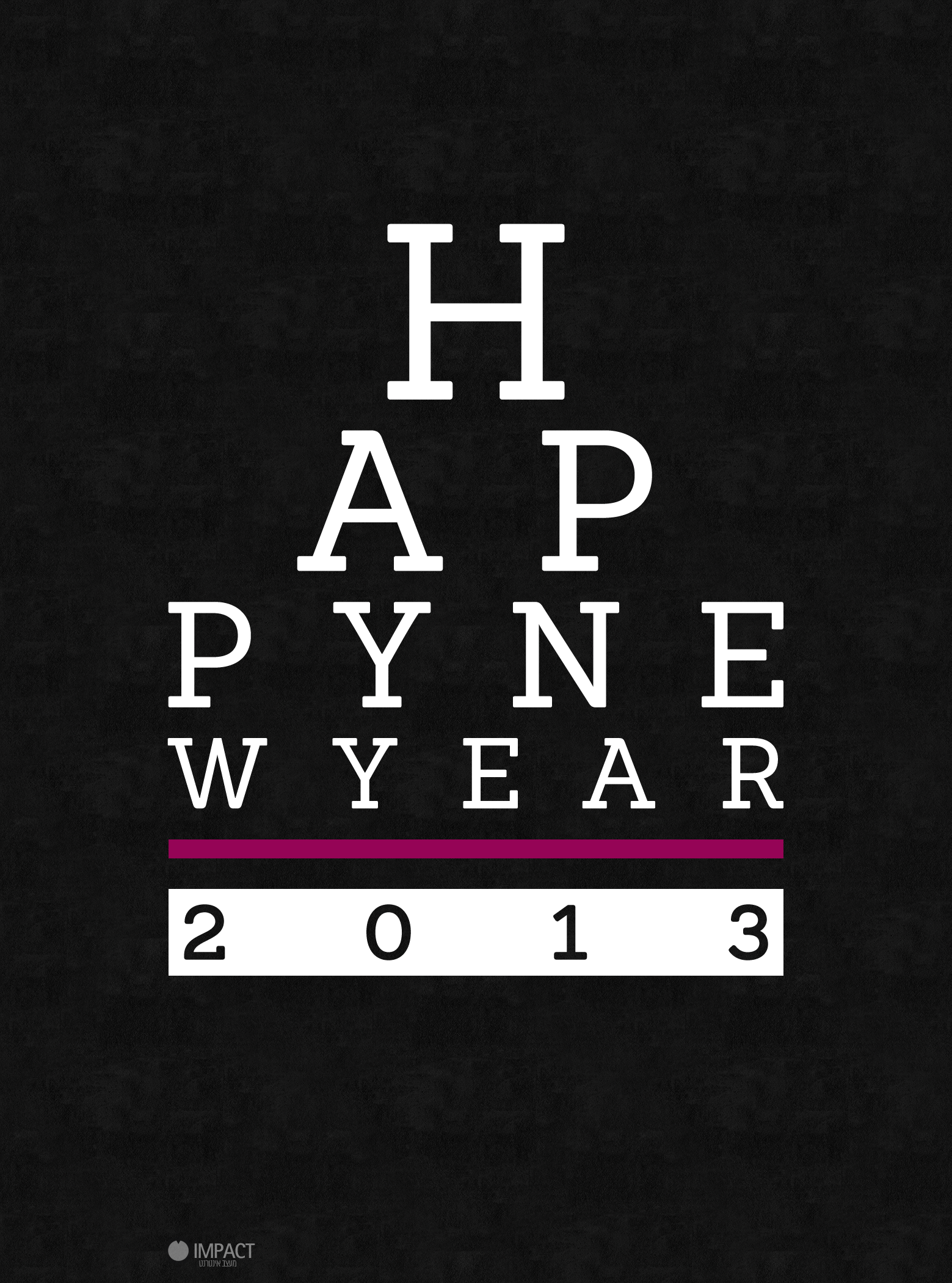 Art typography other 2012 2013 impact design happy new year 2013 load ...
