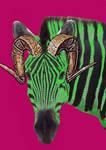 zebra... green...