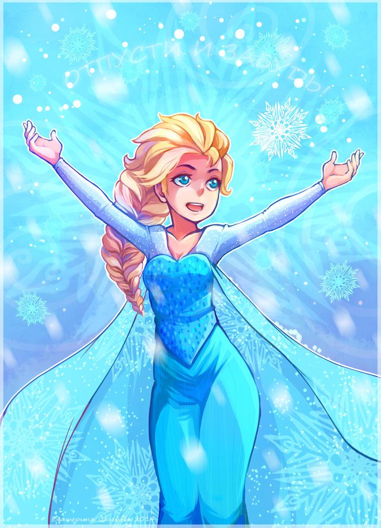 Elsa Cold Heart by KazeAi7