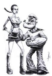 Popeye by Jamesonarts