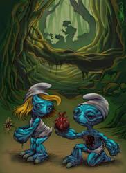 Smurfs - sketch by Jamesonarts