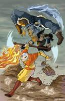 Aang And Korra Colors by FantasiesAndFathoms