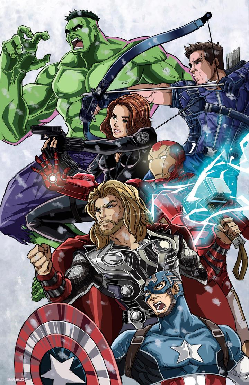 Avengers Colors by FantasiesAndFathoms