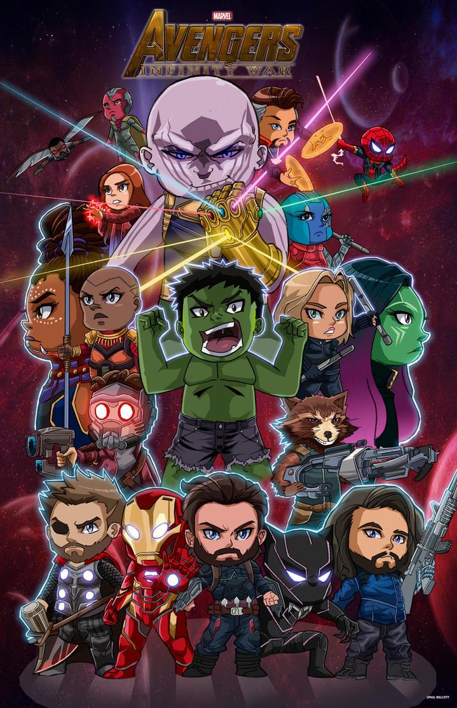 Chibi Avengers Infinity War by FantasiesAndFathoms
