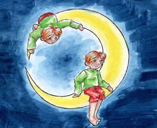 On the moon by Monkey-sama