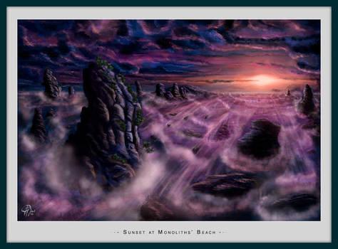 Sunset at Monoliths Beach