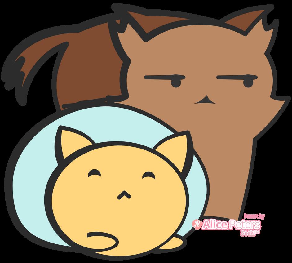 Rye Loaf and Tabby Loaf - Cat Loaf Fanart by Saeki94