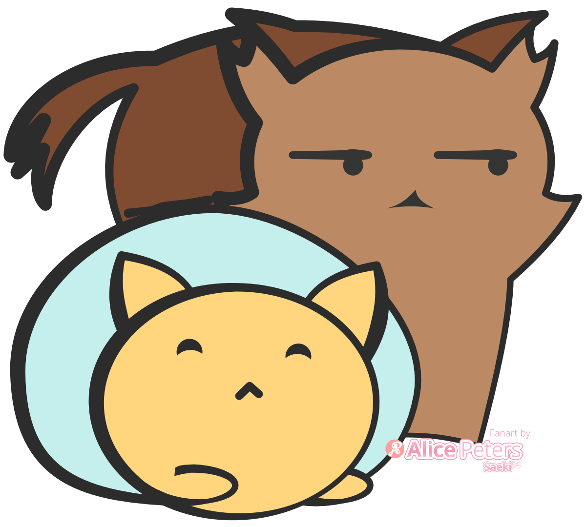 Rye Loaf and Tabby Loaf - Cat Loaf Fanart
