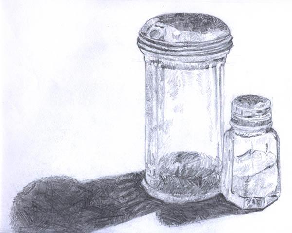 Salt And Pepper Shakers Drawing Sketch Salt n Pepper Shaker