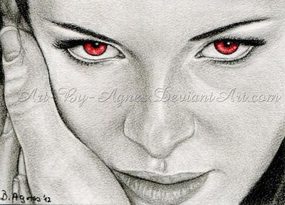 Bella's eyes ACEO_Twilight Breaking Dawn part 2