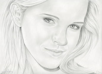 Portrait Drawing of Emma Watson by AgnesBuronyi