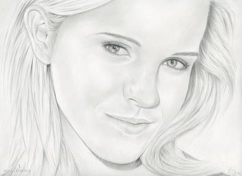 Portrait Drawing of Emma Watson