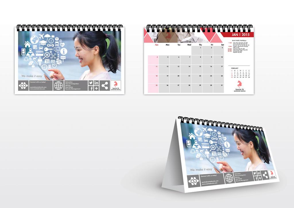 SantaFe Calendar by jrong