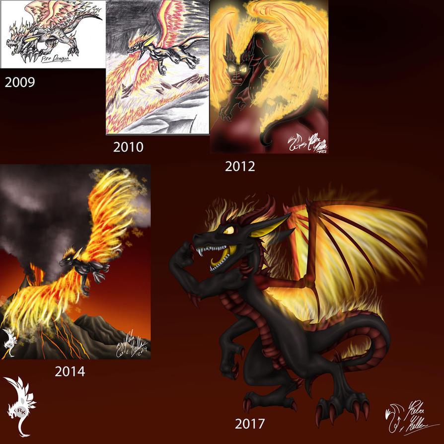 Fire-Dragon-Evolution For FHIO by Dragon-venom