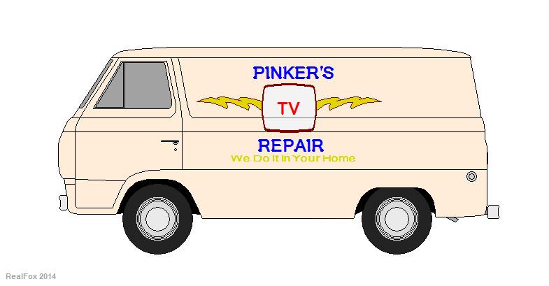 Pinker's TV Repair 1965 Ford Econoline Van by HectorDefendi-Light