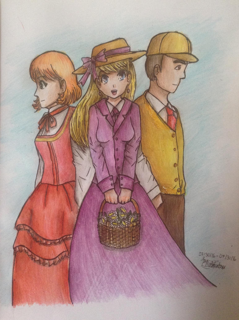 The Main Characters of The Story by Artistic-Ana