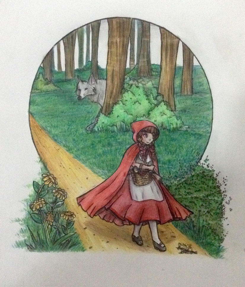 Drawing Contest: Red Riding Hood by Artistic-Ana
