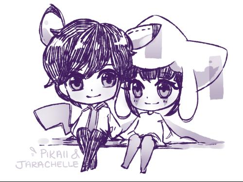 Pikaii and Jarachelle by Starlipop