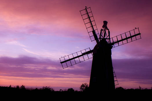 Sunset behind Windmill