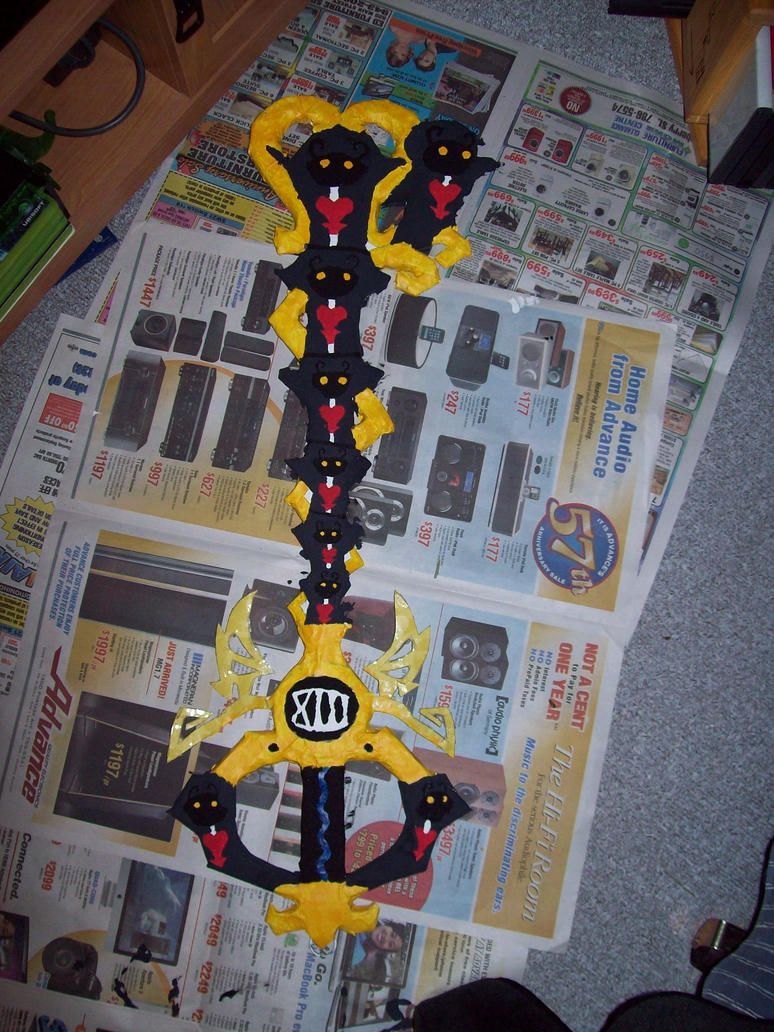 how to make a keyblade out of cardboard