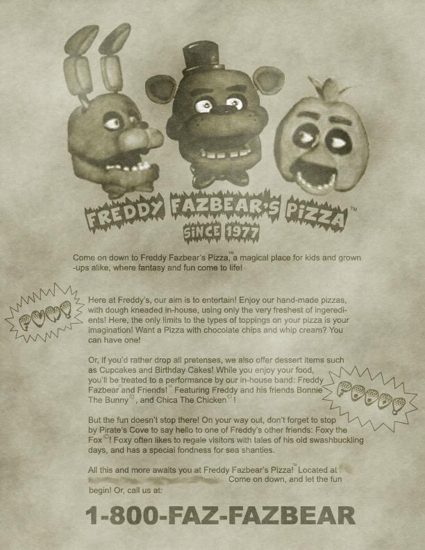 Freddy fazbear s pizza ad by mic roe pony