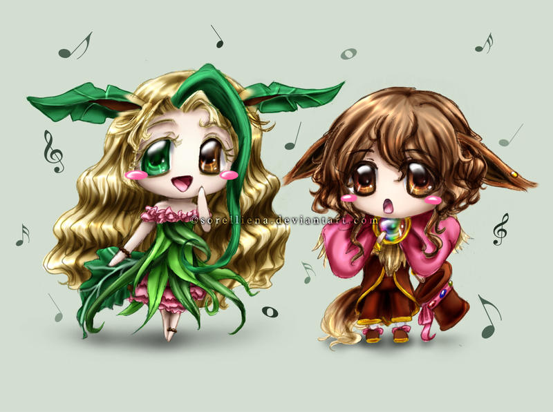 [Workshop] Chibi Drawing Chibilutions__eevee_leafeon_by_sorelliena-d30a8e2