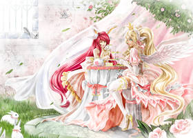 Commission : Tea for Two by Sorelliena