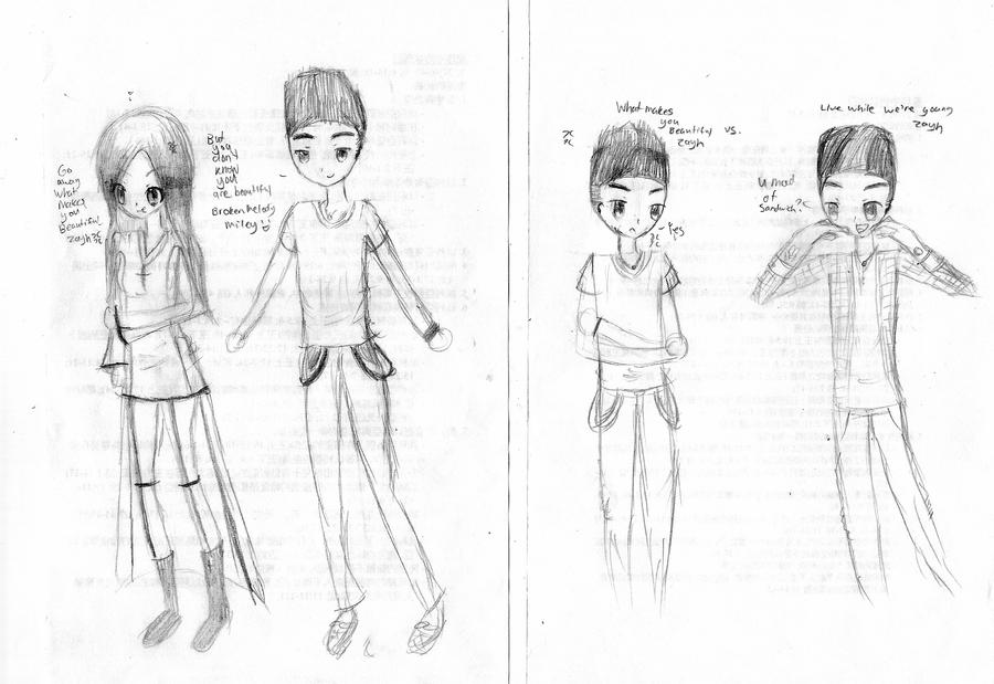 This is what i draw when i 39 m bored by spyu98 on deviantart for Cartoons to draw when your bored