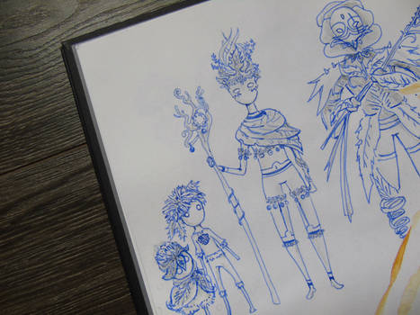 Character Sketches Plants