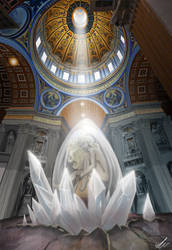 Born... Not yet? [St. Peter's Basilica] by FafnirsWind