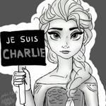 Elsa ~ Je suis Charlie by Antonin-M