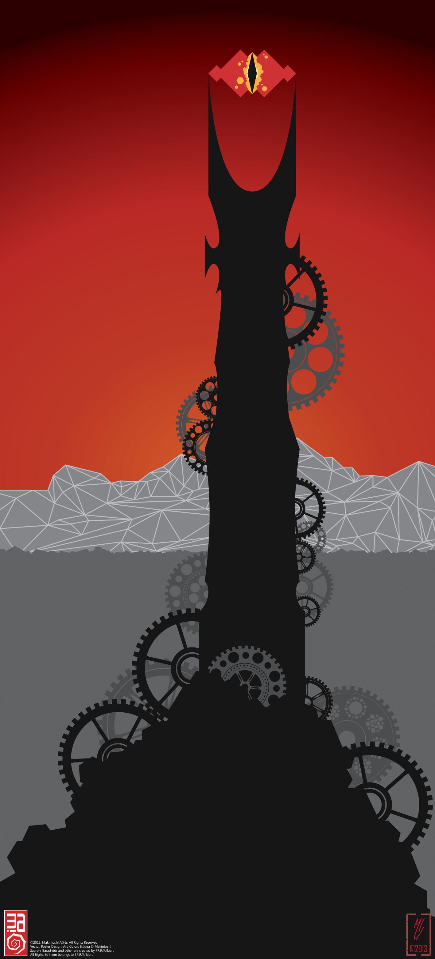 Industrial Barad-dur by Makintosh91