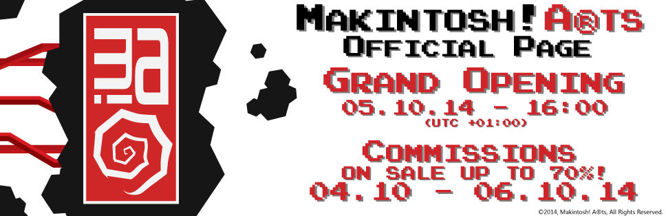 Makintosh! A(r)ts Official Page Opening + SALE