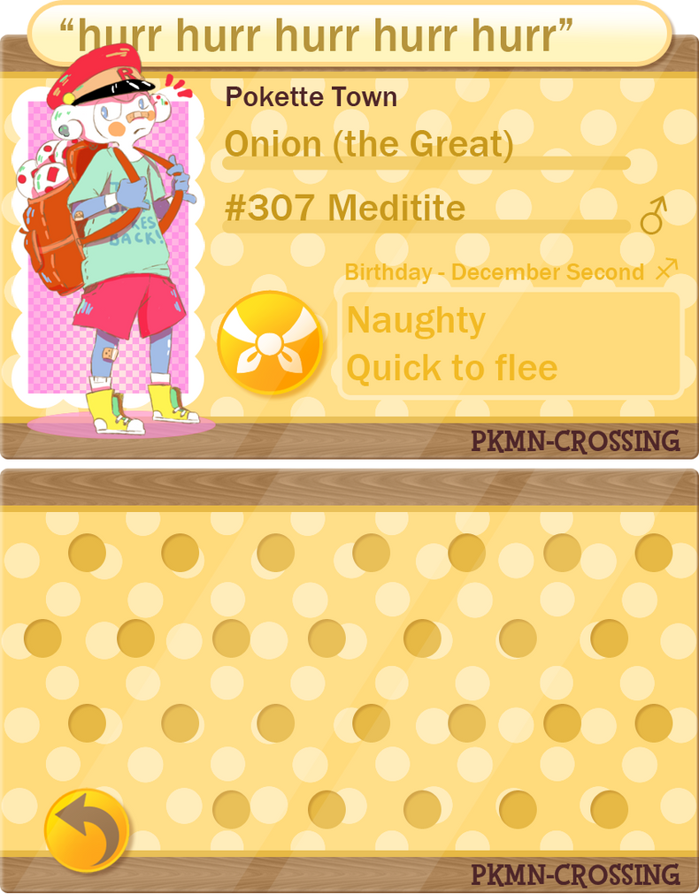 PKMNC - Application *new* - Onion by cherifish