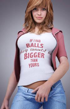 if i had balls....