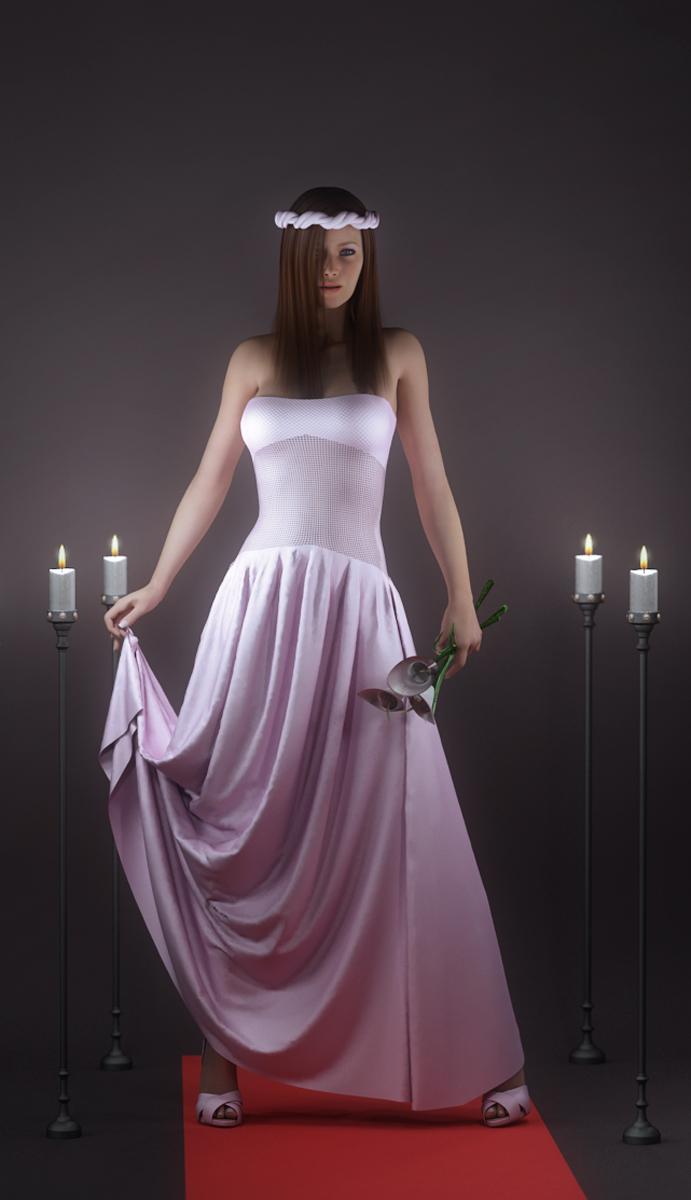 long dress drape 01 by SaphireNishi