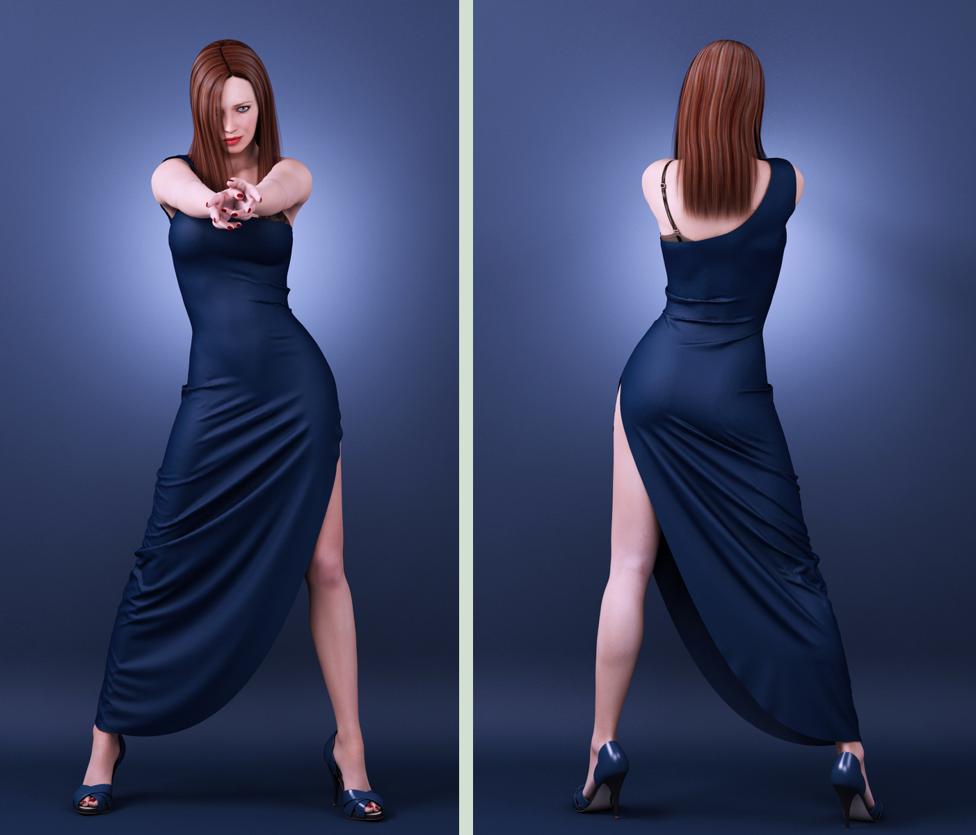 long dress drape 03 by SaphireNishi