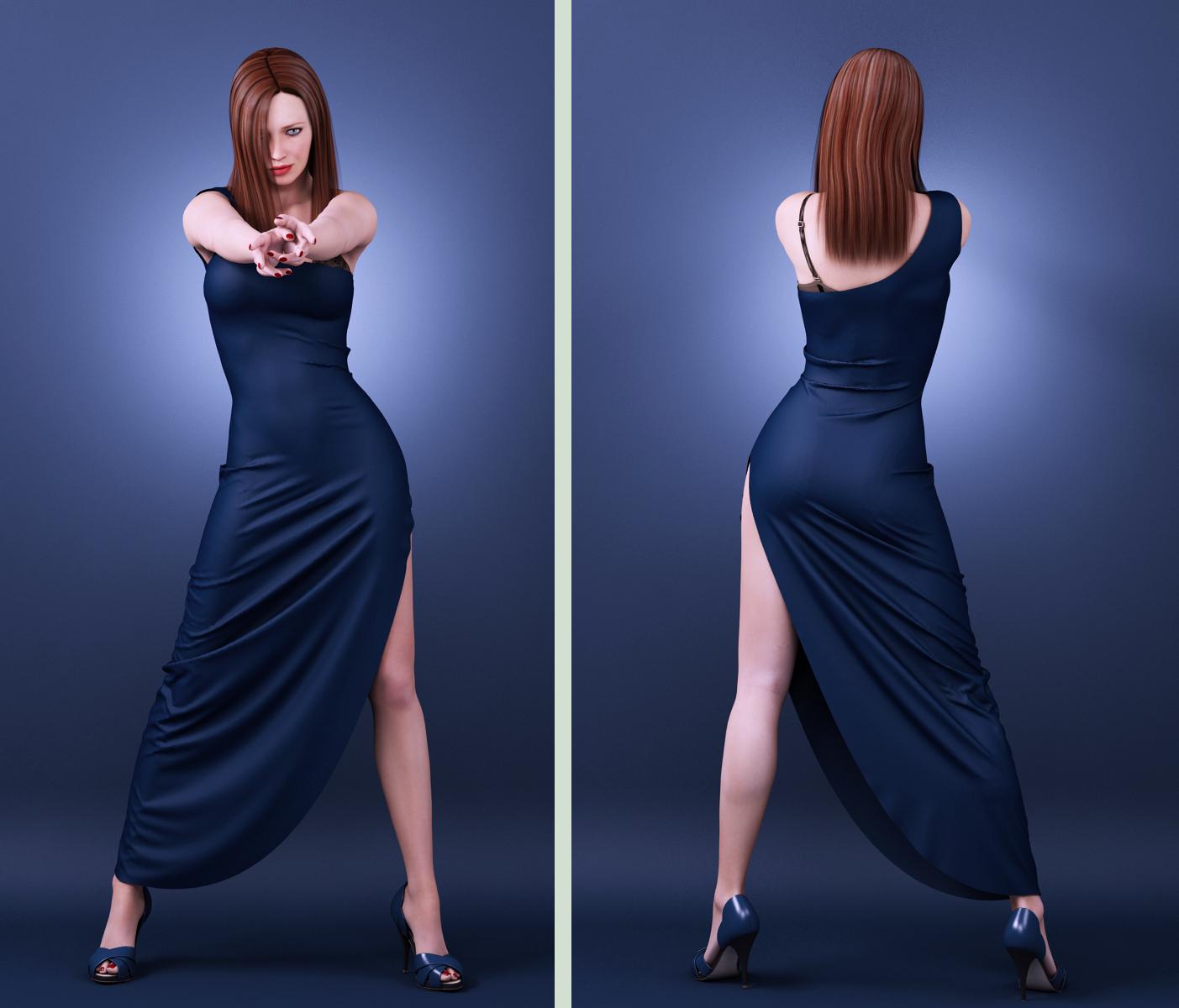 long dress drape 03 by SaphireNishi