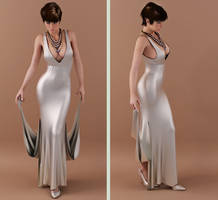 long dress drape 04 by SaphireNishi