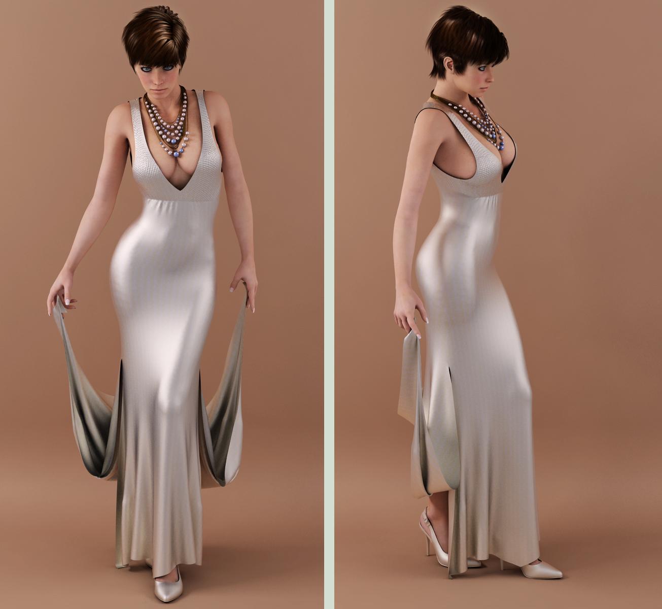 long dress drape 04 by SaphireNishi