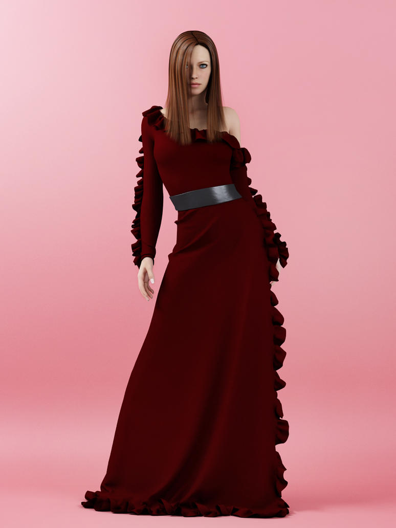 georgette satin gown - gucci by SaphireNishi