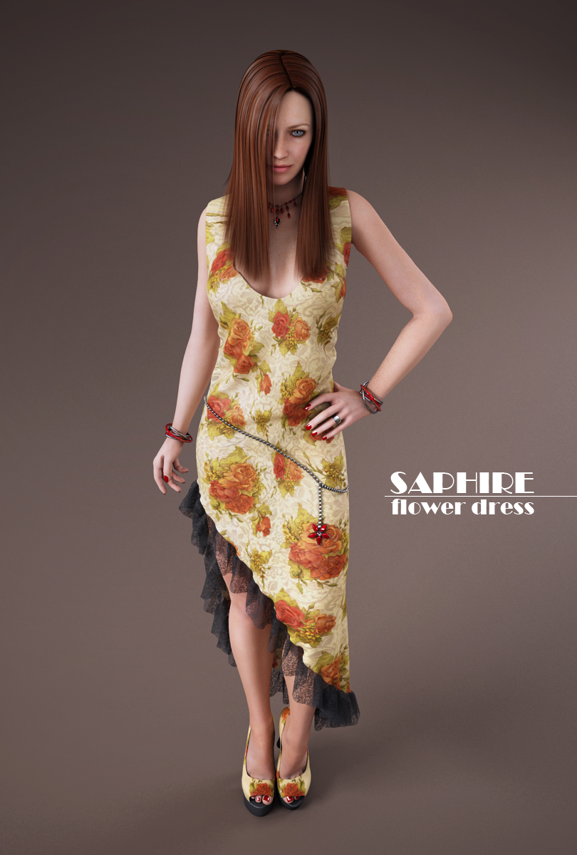 flower dress by SaphireNishi