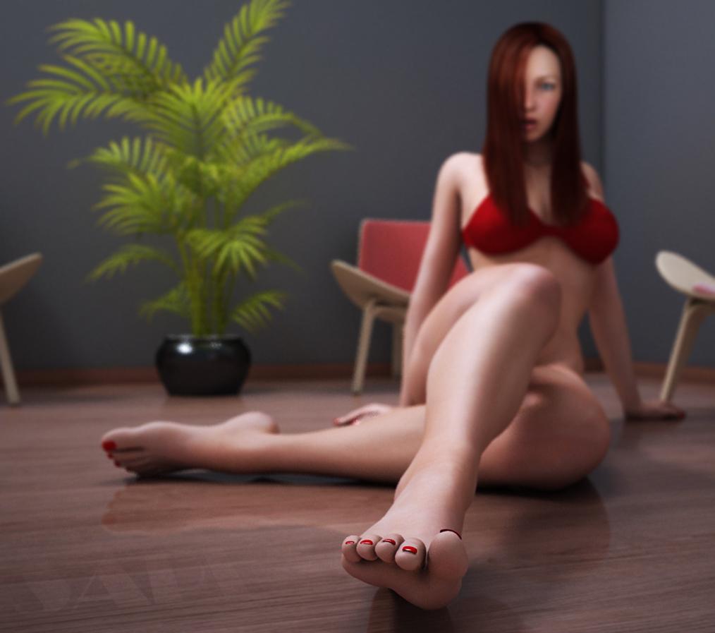 big toe by SaphireNishi