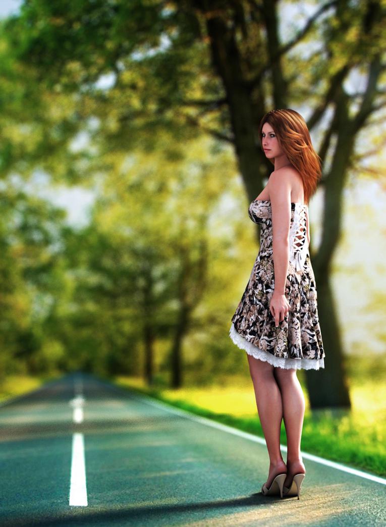 long road ahead by SaphireNishi