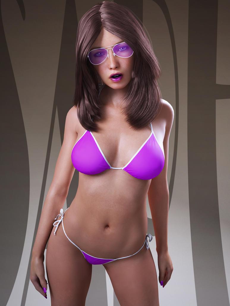 the purple bikini by SaphireNishi