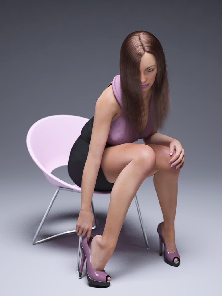 purple/black dress by SaphireNishi
