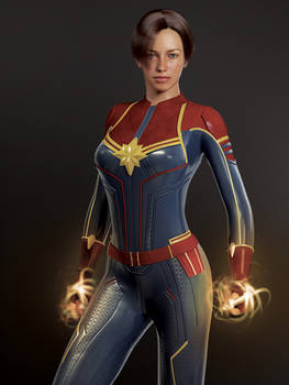 capt marvel mcu outfit